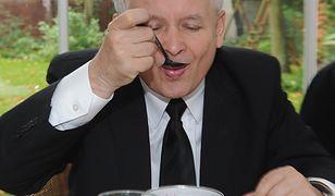 Jarosław Kaczyński woli tradycyjne, polskie potrawy