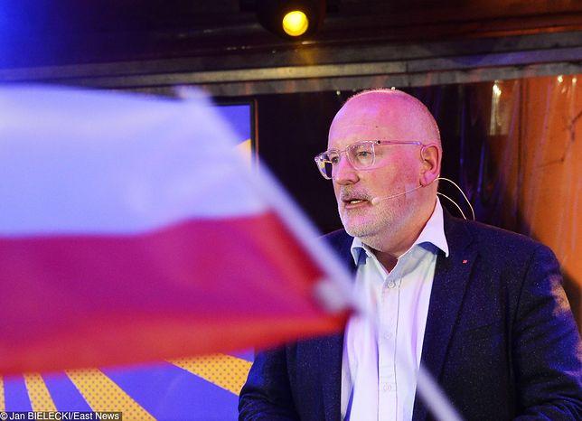 """Timmermans zły. """"Kraje UE posłuchały Polski i Węgier"""""""