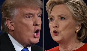 Donald Trump i Hillary Clinton podczas pierwszej debaty