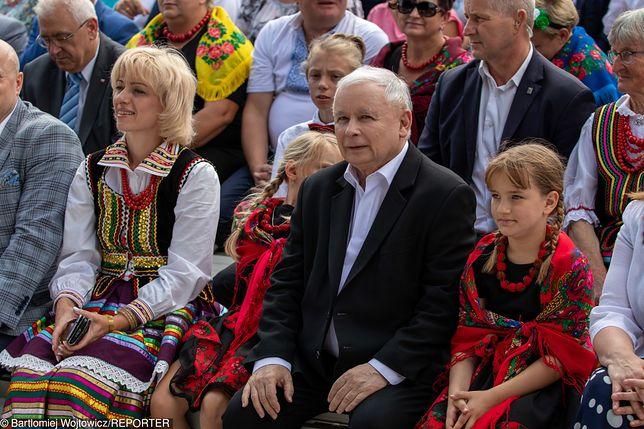 Jarosław Kaczyński (PiS) na pikniku rodzinnym w Chełmie.