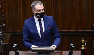 Sejm. Na zdjęciu poseł Lewicy Krzysztof Gawkowski