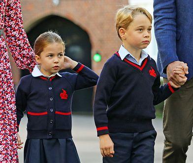 Księżniczka Charlotte i książę George - ona zaczęła naukę