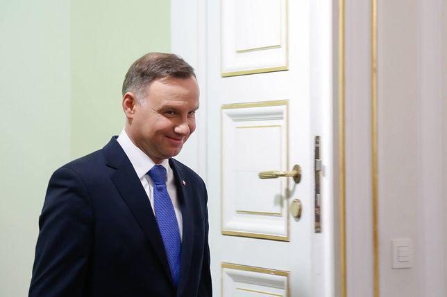 Państwo Nelcowie zaprosili prezydenta, aby podziękować mu za wspieranie rodzin wielodzietnych