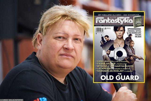 """Jacek Komuda i okładka lipcowego numeru """"Nowej Fantastyki"""" z kontrowersyjnym opowiadaniem"""