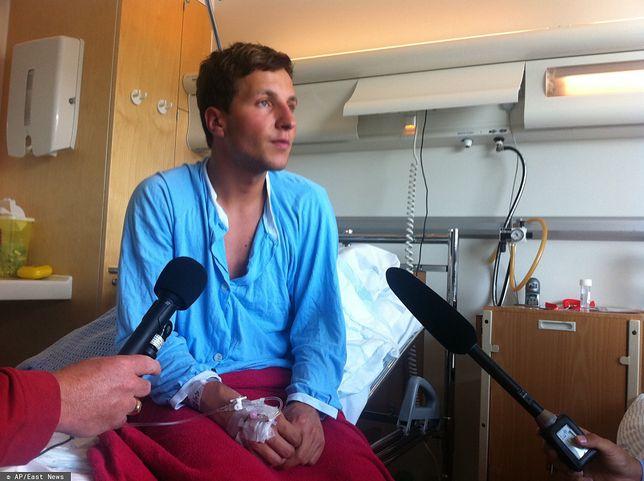 Adrian Pracoń w szpitalu