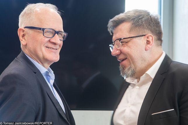 Przewodniczący RMN Krzysztof Czabański (z lewej) i przewodniczący KRRiT Witold Kołodziejski (zdj. arch.)