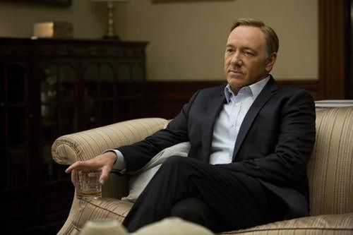 Kevin Spacey jako Frank Underwood w serialu The House of Cards Netflixa