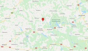 Tragedia pod Drawskiem Pomorskim. Bracia w aucie zatopionym w jeziorze Przytonko