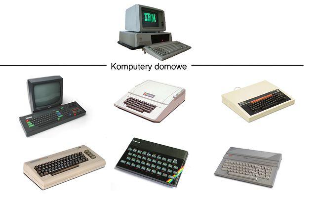 Lata 80-te to dosyć wyraźny podział na komputery domowe i biurowe.