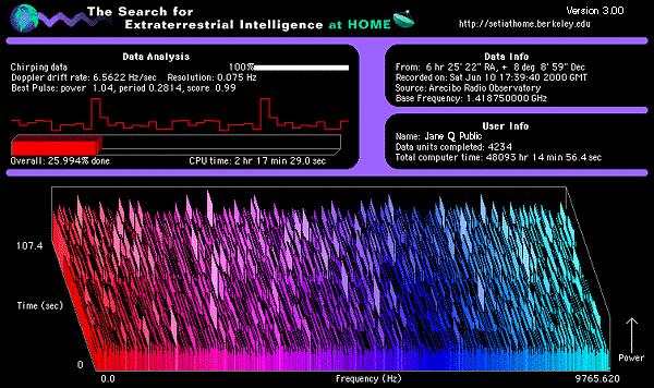 Wersja 3.0 Screensavera SETI@Home.