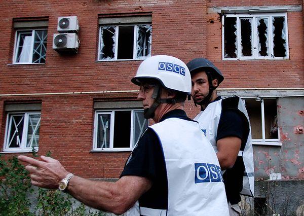 Konwój OBWE ostrzelany koło Doniecka