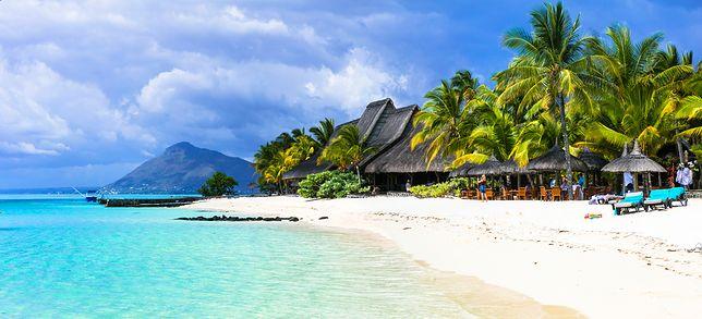 Piękna linia brzegowa wyspy Mauritius