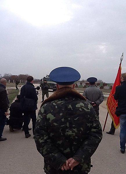 Ukraińscy żołnierze chcieli wejść do bazy. Padły strzały