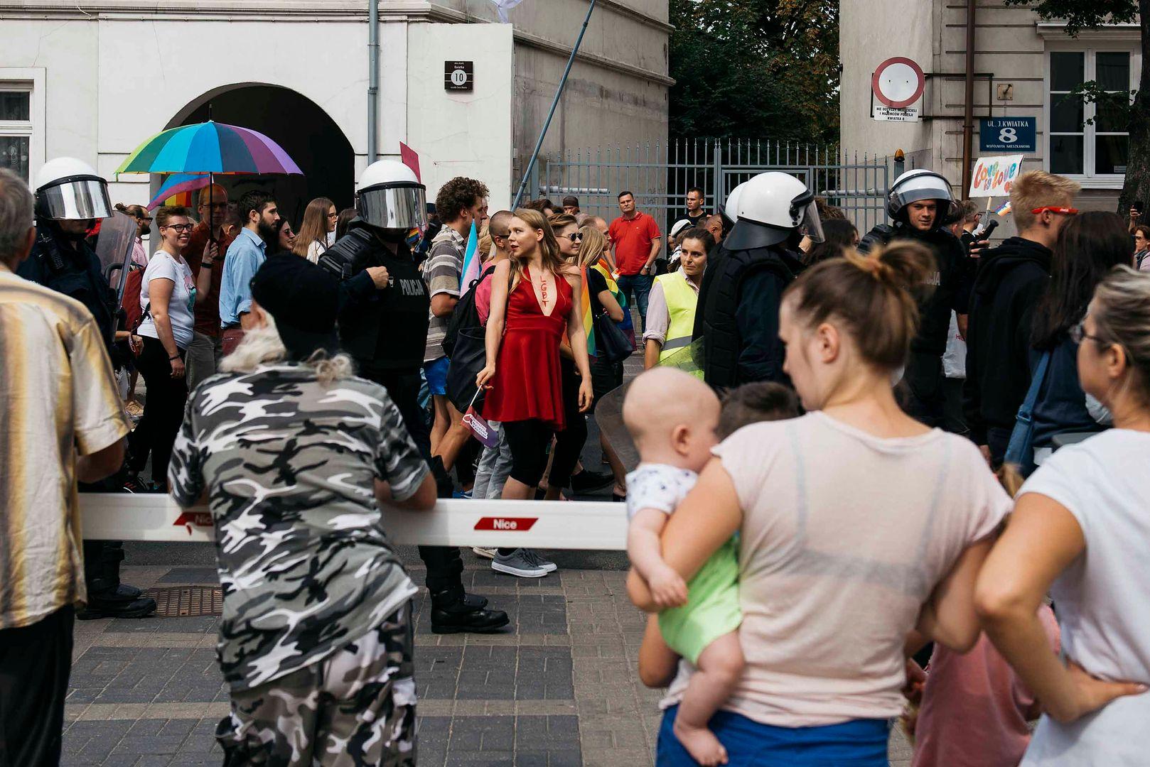 W Płocku - podobnie jak w Białymstoku - na marszu pojawiły się dzieci.