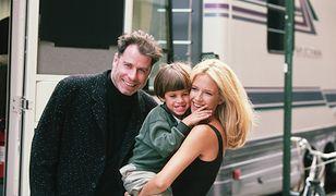 John Travolta i Kelly Preston z synem Jettem
