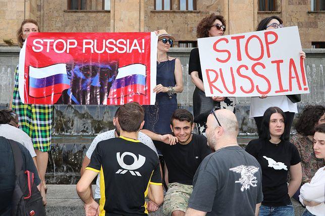 Wystąpienie w parlamencie Gruzji posła do rosyjskiej Dumy Siergieja Gawriłowa wywołało falę protestów