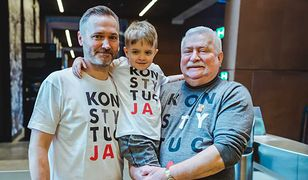 Jarosław Wałęsa z rodziną. Syn Lecha Wałęsy jest numerem dwa na liście Koalicji Obywatelskiej w Gdańsku. Kandyduje do Sejmu.