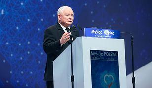 """Jarosław Kaczyński na konwencji """"Myśląc: Polska"""" w Katowicach"""