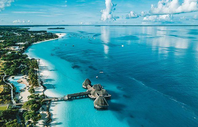Kolor wody na Zanzibarze zachwyca