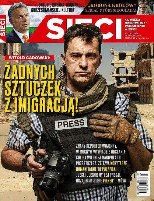 W najnowszym numerze tygodnika na okładce wystąpił Witold Gadowski