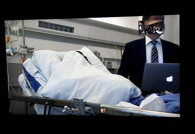 Nożownik brał udział w rozprawie z sali szpitalnej