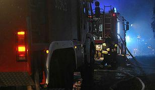 Pożar hali magazynowej w Przytocznej w Lubuskiem