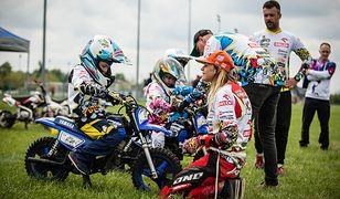 Marzena Chrostek była jedyną kobietą w polskim supermoto. Dziś uczy małe dzieci jazdy na motocyklu