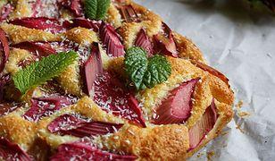 Ciasto rabarbarowe z kokosem