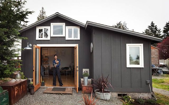 Malutki dom w garażu
