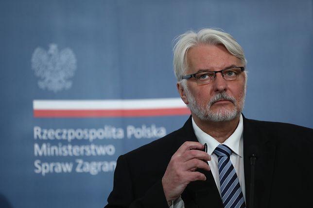"""Waszczykowski podkreślił, że ustawa była """"promowana"""" przez Ministerstwo Sprawiedliwości"""