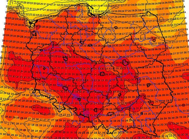 Pogoda. Kiedy będzie ciepło? 25 sierpnia fala upałów maja objąć prawie całą Polskę.