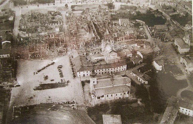 Wieluń po bombardowaniach 1 września