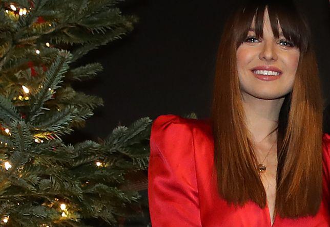 Anna Lewandowska na spotkaniu świątecznym klubu piłkarskiego Bayern Monachium