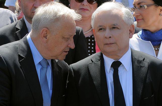 Bolesław Piecha i Jarosław Kaczyński