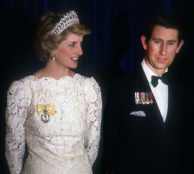 Księżna Diana z księciem Karolem