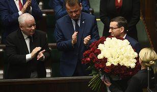 Premier Mateusz Morawiecki po expose w Sejmie