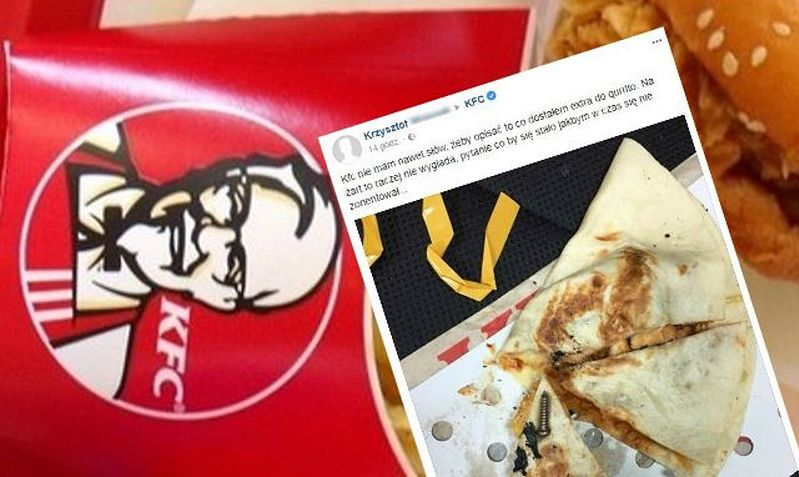 """""""Nie mam nawet słów"""". Klient pokazał, co znalazł w daniu z KFC"""
