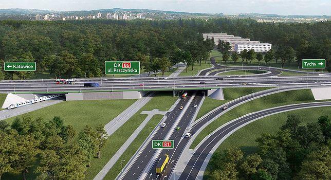Udogodnienia na węźle dróg krajowych 81 i 86 w Katowicach zostaną wprowadzone we wtorek.