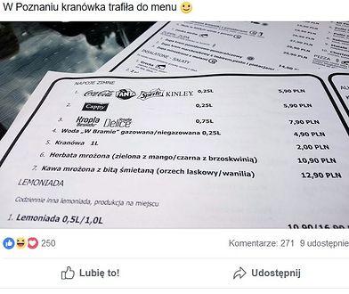 Płatna kranówka w poznańskiej restauracji. Życzą sobie dwa złote za litr