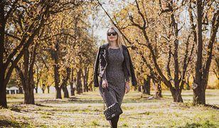 Sukienki midi będziemy nosić wiosną np. z ramoneską