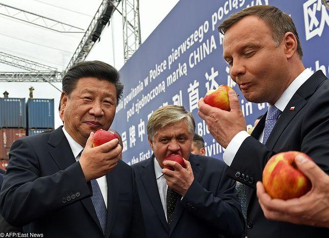 Prezydent Xi Jinping rozmawiał w Warszawie z prezydentem Andrzejem Dudą o współpracy polsko - chińskiej