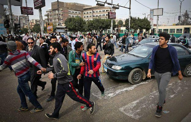 Zwolennicy Bractwa Muzułmańskiego. Egipt, styczeń 2015 r.