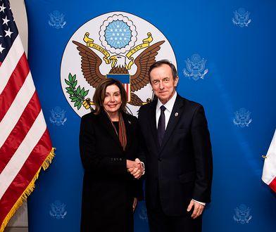 Nancy Pelosi z marszałkiem Senatu Tomaszem Grodzkim