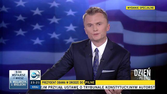 Dziennikarz wciąż związany jest ze stacją TVN24