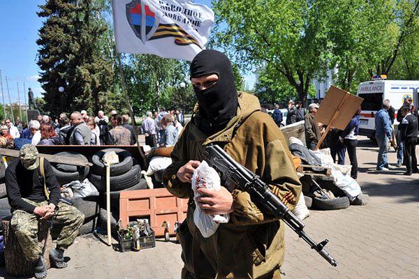 Prorosyjski separatysta w Kramatorsku