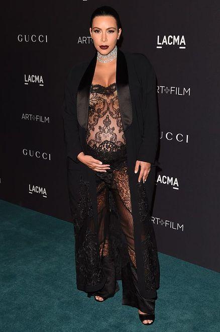 Kim Kardashian w czarnej koronce