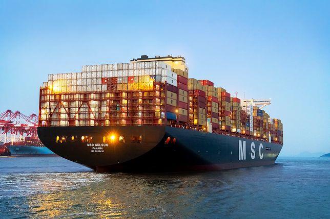 Tak wygląda największy kontenerowiec świata MSC Gülsün