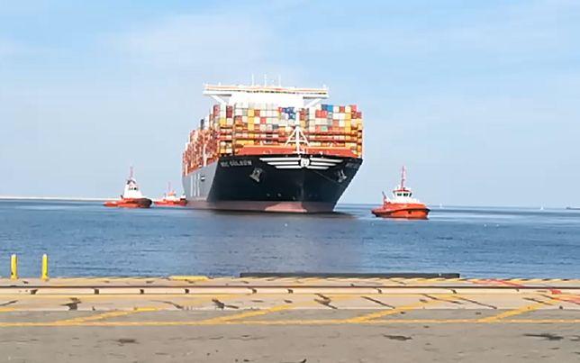 MSC Gülsün zawitał do portu w Gdańsku