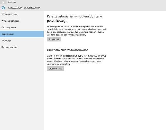 Dla niepoznaki zrzut z Windowsa 10 obrazujący tą opcje