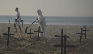 Plaża Copacabana w Brazylii zamieniła się w cmentarz